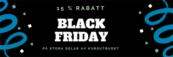 BLACK FRIDAY på DF Kompetens